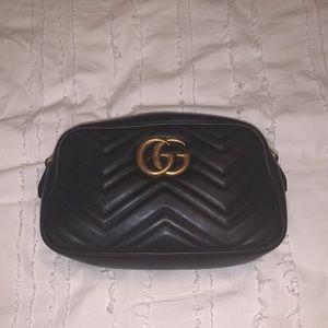 Black Gucci Marmont Matelasse Shoulder Bag